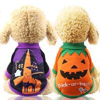 Cute Pet Dog Clothes Sweater Halloween Pet Pumpkin Broom Teddy Bomei Clothes