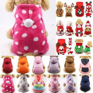 Winter Warm Soft Dog Coat Pet Cat Puppy Chihuahua Fluffy Clothes Hoodies Apparel