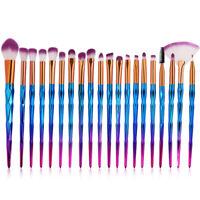 20PCS Unicorn Cosmetic Makeup Brushes Set Foundation Blush Powder Brush Purple