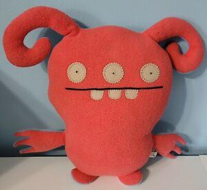 "Uglydoll 15"" Turny Burny Plush Blue & Red Reversible Double Sided Stuffed Animal"