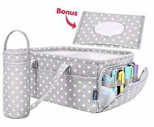 SweetCarling Baby Diaper Caddy Organizer | Baby Shower Registry