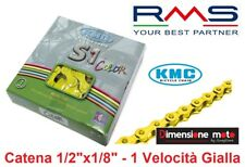 Catena KMC 1/2'x1/8' S1 112 maglie lunghezza Spina 8 6mm Giallo