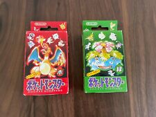 Pokemon Playing Cards Poker Deck Red & Green Charizard Venusaur 1996 Saeled new