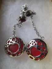 CHOICE by CHIMENTO NWT Italy Heart Dangly Stainless Earrings Orig $140.00