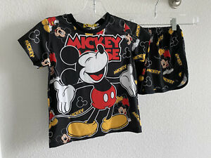 Children Mickey4 Spandex Pj Set Đồ Bộ Thun Bé-  Size 10/ 40lbs and Less