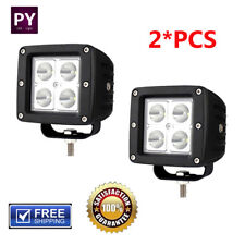 Pair 3inch Cube Spotlight Off-road LED Work Light Driving Fog LampTruck Boat 4WD