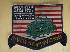 US Navy Patch RIVER DIVISION 554 Brown Water In Vietnam