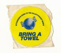 RARE Vintage 1981 Hitchhiker's Guide to the Galaxy BRING A TOWEL STICKER Book 1