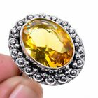 Aaa+++ Citrine Gemstone 925 Sterling Silver Jewelry Ring s.8 S2067