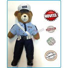 Orsetto Bear Orso Peluche Con Divisa Polizia Locale Vigili cm 53 Italia