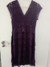 Tiana B Crochet Lace Yoke Detail Maxi Dress Cobalt Size 10 BNWT