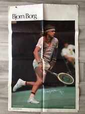 "1978 Bjorn Borg Poster Sports Illustrated 23"" x 35"" Large Vintage Tennis Poster"