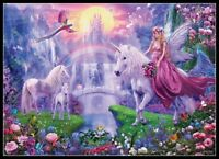 Fairy on Unicorn - Chart DIY Counted Cross Stitch Patterns Needlework