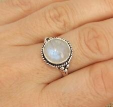 Moonstone 925 Silver Ring UK Size Q 1/2-US Size 8 1/2 Jewellery