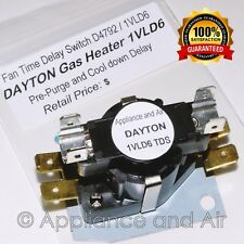 DAYTON 1VLD6 OEM Fan Time Delay Switch FREE Shipping + Hardware and Instructions