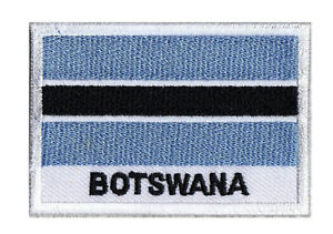 Badge Patch Country Flag Botswana 70 X 45 MM Sew-On Embroidered