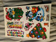 Vintage Christmas Window Clings On Glass Stickers Decals