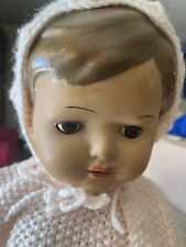 Vintage Rare 20� Doll From England Joint Composite Sleepy Eyes