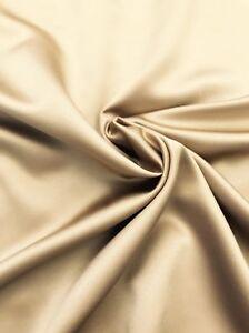 Satin Taupe Fabric BY THE YARD Liba Fabrics