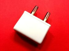 110V to 220V Travel Round Pin Plug Charger Adapter Converter 4mm Plug WHITE