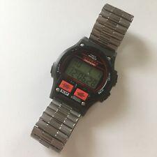 Vintage Timex Ironman Triathlon Men's Watch 8 Lap Red Black Indiglo Alarm-Rare
