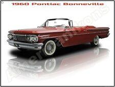 1960 Pontiac Bonneville Convertible New Metal Sign: Pristine Restoration!