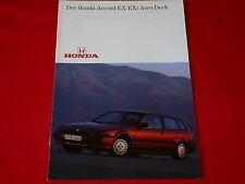 Honda Accord 2.0 ex + 2.0 exi Aero Deck folleto de 1986
