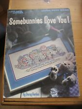 Bunnie Cross Stitch Chart  Leisure Art USA 1993 'Somebunnies Love You