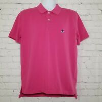 Brooks Brothers Mens Polo Shirt Slim Fit Large Short Sleeve Performance Rugby