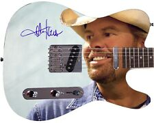Toby Keith Autographed Photo Guitar