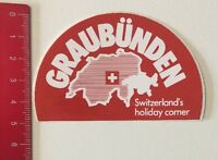 Aufkleber/Sticker: Graubünden - Switzerland's Holiday Corner (040616125)