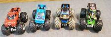 Lot Of 4 Hot Wheels Monster Jam Trucks diecast cars racing toys Grave Digger