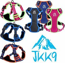 JKK9® Dog Puppy Harness Padded Adjustable & Reflective Harnesses with Top Handle