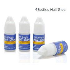 4 Bottles Acrylic Nail Art Glue French False Tips Manicure Tool Fake Nails Glue