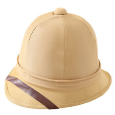 SOLDIERS PITH HELMET BRITISH ARMY TROPICAL HAT BOER WAR EXPLORER FANCY DRESS