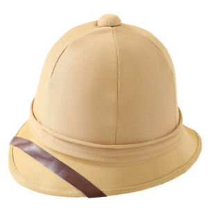 SOLDIERS PITH HELMET BRITISH ARMY TROPICAL HAT BOER WAR EXPLORER FANCY DRESS