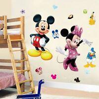 Mickey Minnie Mouse Cartoon Wall Sticker PVC Decal Mural DIY Kids Nursery Decor