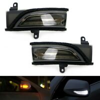 For Subaru Sequential Dynamic LED Side Mirror Blinker Smoked Lights
