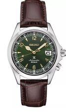 Seiko Green Alpinist SPB121  Brown Leather Strap Men's Watch Prospex NEW