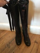 ASH Ladies Leather Knee High Boots Size 6