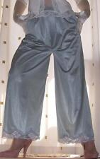 Vintage style no visible pl silver nylon panty slip~pettipants~culottes~bloomers