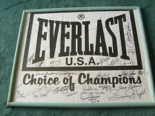 RARE  SIGNED,  21  BOXING  LEGENDS  AUTO'S  EVERLAST  BANNER  HOF  AUTHENTICATED