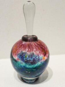 Art Glass Perfume Bottle  - Signed by Artist - Stunning