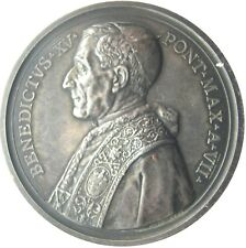 MEDAL - Benedict XV year VII of Pontificate 1921 - Encyclicals of 1920 - Silver