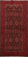 Tribal Traditional Geometric Balouch Area Rug Wool Oriental Hand-knotted 3x6 ft