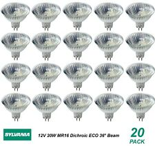 20 x 12V 20W MR16 Gu5.3 Halogen Light Lamp Globes Bulbs 36 Degree Beam Dimmable