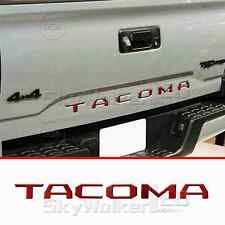 For TOYOTA TACOMA 2014-2018 RED Tailgate Letters Insert 3D Plastic Sticker