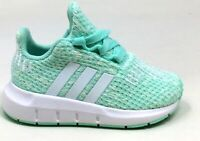 Adidas Unisex Kids Swift Run I Athletic Sneakers Mint / White Size 7 K US