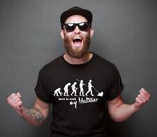 SALE Malteser Evolution Maltesershirt Malteser lustig Unisex T-Shirt black L