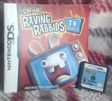 Rayman Raving Rabbids TV Party 2008 Nintendo DS Video Game Handheld